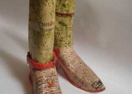 Artist: Kallie Hill, Ceramic boots with ceramic decals
