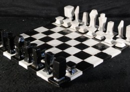 Artist Caysey McCraken, Ceramic chess set and board